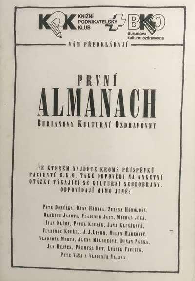 První almanach Burianovy kulturní ozdravovny KPK 1993